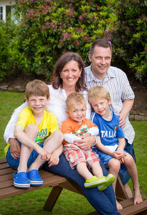 Kirsten Speirs Interview, Photograph with Family